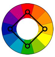 ფერთა კომბინაცია--კვადრატი