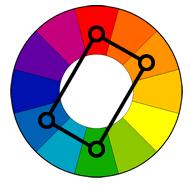 ფერთა კომბინაცია--ოთხკუთხედი