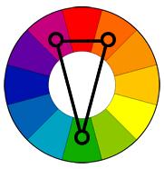 ფერთა კომბინაცია--სამკუთხედი