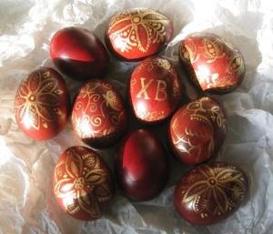 კვერცხების მოხატვა