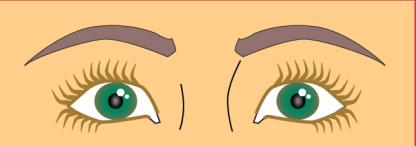 ახლოს დასმული თვალები.თვალის მაკიაჟი