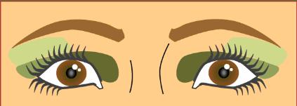 შორს დასმული თვალები.თვალის მაკიაჟი