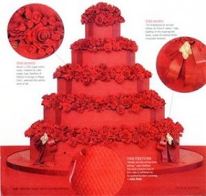 ევა ლანგორიასა და ტონი პარკერის საქორწინო ტორტი. Eva Longoria and Tony Parker's Wedding Cake