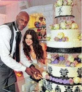 ქლო კარდაშიანის და ლამა ოდომის საქორწილო ტორტი. Khloe Kardashian and Lama Odom's Wedding Cake