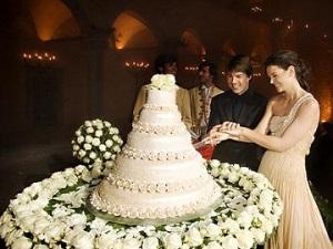 ტომ კრუზის და კეით ჰოლმსის საქორწინო ტორტი. Tom Cruise and Katie Holmes Wedding cake